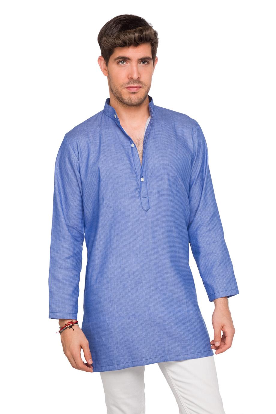 Maxi Camisa Punjab Azul