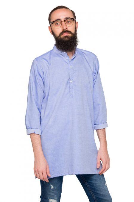 Maxi Camisa Punjab Azul Celeste